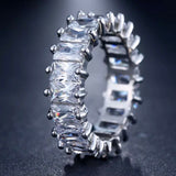 Ring: Anastasia ~ Silver/Clear