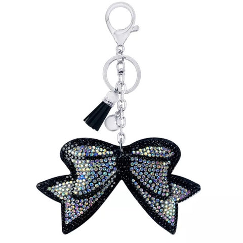 KeyChain / Bag Charm: Bow ~ Sparkle ~ Aurora/Black ✨ NEW