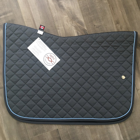 Saddlepad: Regular Size ~ Charcoal/BabyBlue/Charcoal