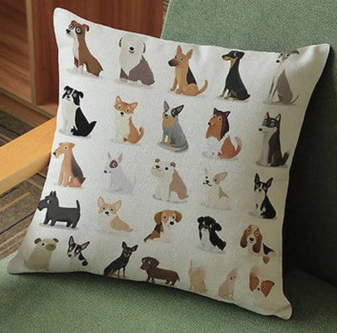 Décor: Throw Pillow Cover - Pack of Pups