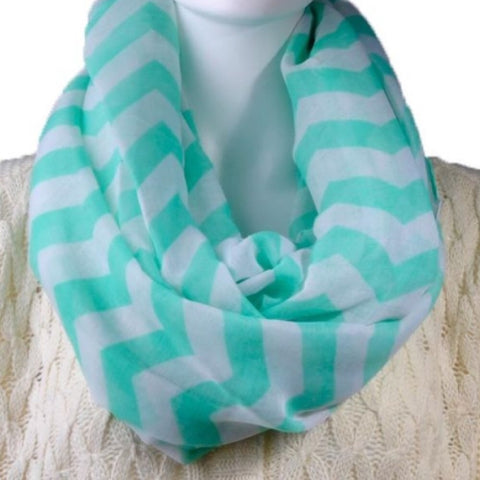 Infinity Scarf: Chevron - Mint 💕 clearance