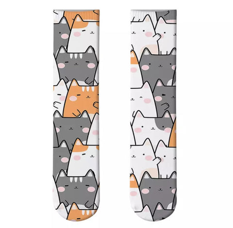 *Boot Socks: Cats ~ Kawaii Kittens 1 🐱🐱 NEW