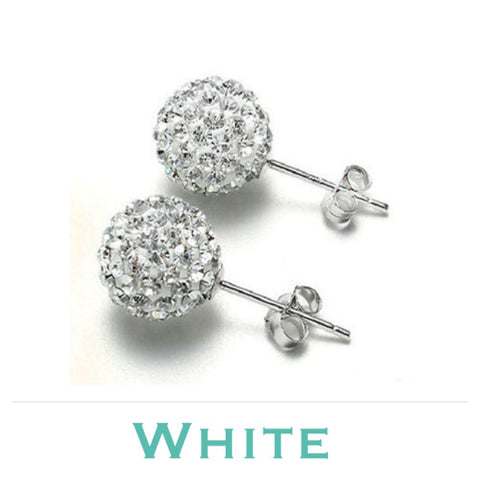 Earrings: Match Your Pony - White ~ Midi size