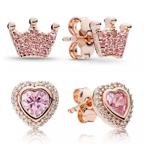 Earrings: BOGO Princess Set ~ Rose Gold