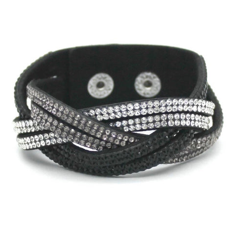 Bracelet: Snap ~ Braided Bling