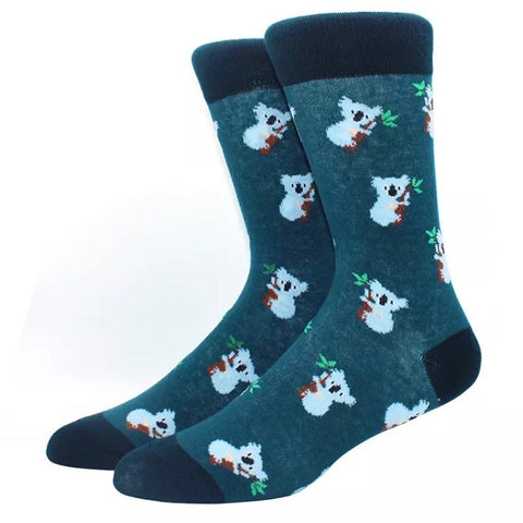 Crew Socks: Koalas ~ Green/Black 🐨 NEW!