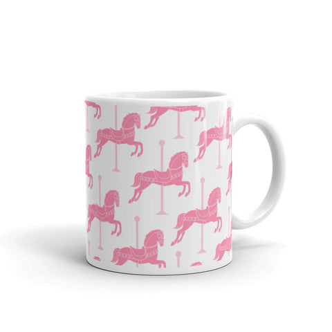 """Carousel"" Collection: Mug ~ Pink on White"
