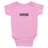 Infant Bodysuit: Short-Sleeve - Leadline is for babies