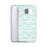 Samsung Phone Case: Unicorns ~ Blue