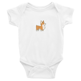 Infant Bodysuit: Short-Sleeve - Corgi