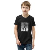 Youth Tee: More Ponies