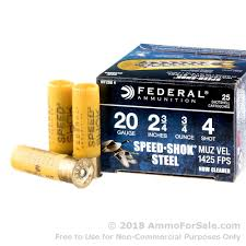 FEDERAL SPEED-SHOK STEEL  20 GA  2 3/4