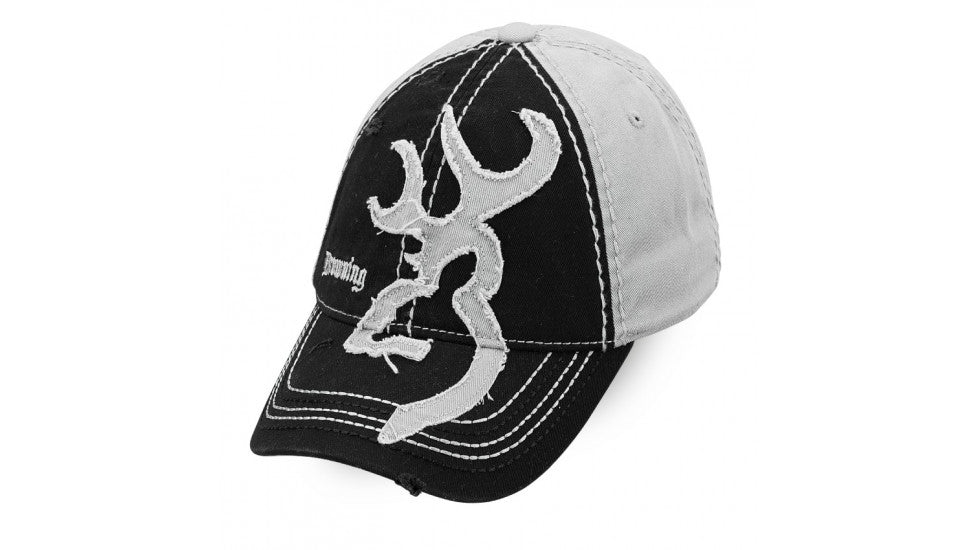 BROWNING -CAP BUCKMARK 2 TONE BLK/GRY-High Falls Outfitters