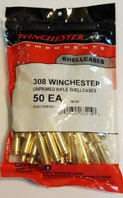 WINCHESTER .308 WIN UNPRIMED RIFLE SHELLCASES  50 PK
