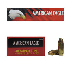 FEDERAL AMERICAN EAGLE 38 SUPER (+P) 115 GR JHP-High Falls Outfitters