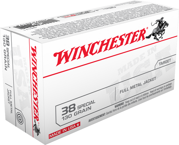 WINCHESTER TARGET 38 SPECIAL  130 GR    50 RDS