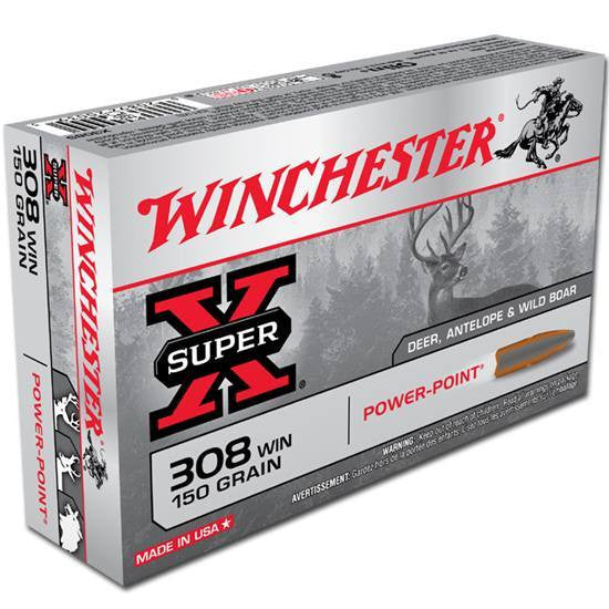 308 Winchester 150 Grs. gr. Super-X-High Falls Outfitters