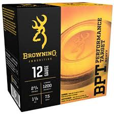 "BROWNING BPT HEAVY  2 3/4""  12 GA  1 1/8 OZ  7.5 SHOT"
