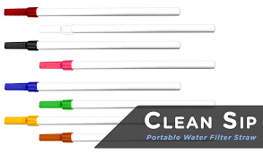 CLEAN SIP WATER FILTER IN A STRAW