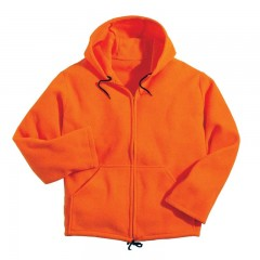 BACKWOODS BLAZE ORANGE FLEECE JACKET    3XL