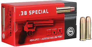 GECO .38 SPECIAL 158 GR  JACKETED HOLLOW POINT   50 RDS