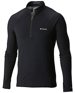 COLUMBIA - BASELATER HEAVYWEIGHT OMNI HEAT - LONG SLEEVE HALF ZIP- BLACK