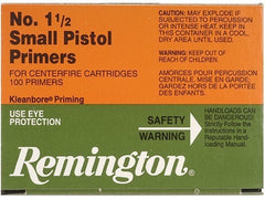 REMINGTON NO. 1 1/2 SMALL PISTOL PRIMERS CASE LOT-High Falls Outfitters