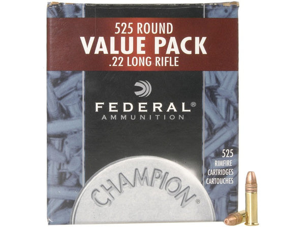 FEDERAL CHAMPION 525 RD VALUE PACK .22 LR HP-High Falls Outfitters