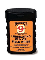 HOPPE'S LUBRICATING GUN OIL FIELD WIPES-High Falls Outfitters
