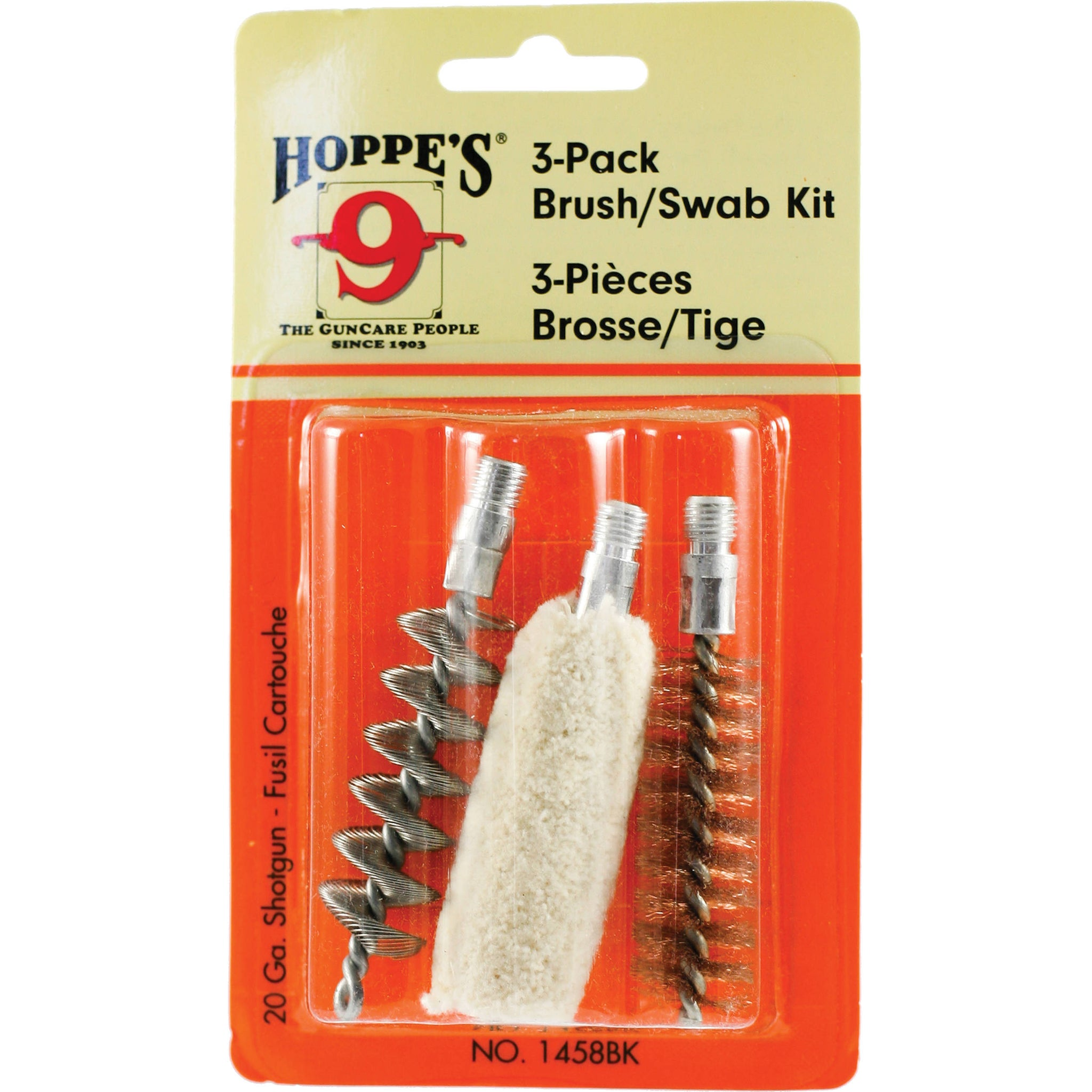 HOPPE'S 3-PACK BRUSH/SWAB KIT 20 GA-High Falls Outfitters