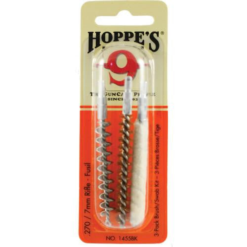 HOPPE'S 3 PACK BRUSH/SWAB KIT .270/7MM RIFLE-High Falls Outfitters