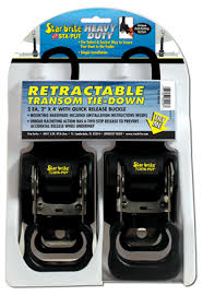 STARBRITE  STA-PUT RETRACTABLE 4' TRANSOM TIE-DOWNS   2 EA.