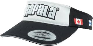 RAPALA VISOR CAP WHITE AND BLK-High Falls Outfitters