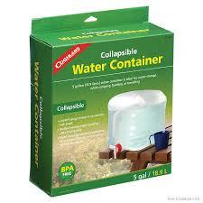 COGHLAN'S COLLAPSIBLE WATER CONTAINER   5 GAL