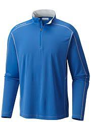 Columbia Low Drag 1/4 Zip Shirt Vivid Blue