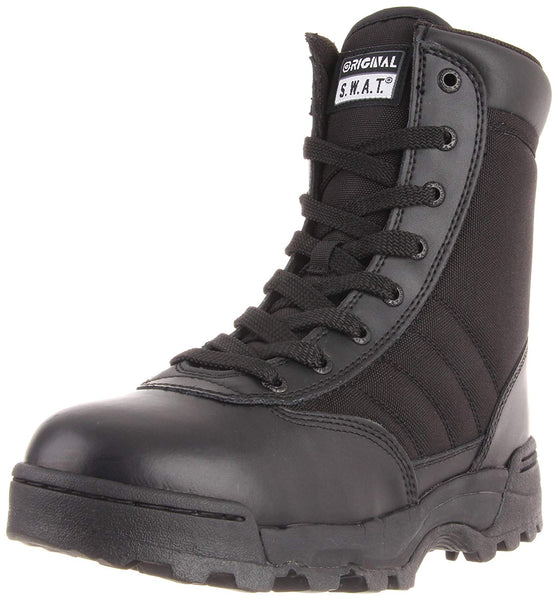 "ORIGINAL SWAT - CLASSIC 9"" SAFETY - SIDE-ZIP MENS BOOTS BLACK"