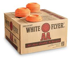 WHITE FLYER AA ORANGE TOP CLAY TARGETS