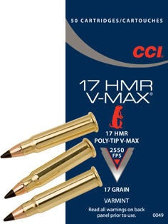 CCI 17 HMR V-MAX 17 GR POLYMER TIP-High Falls Outfitters