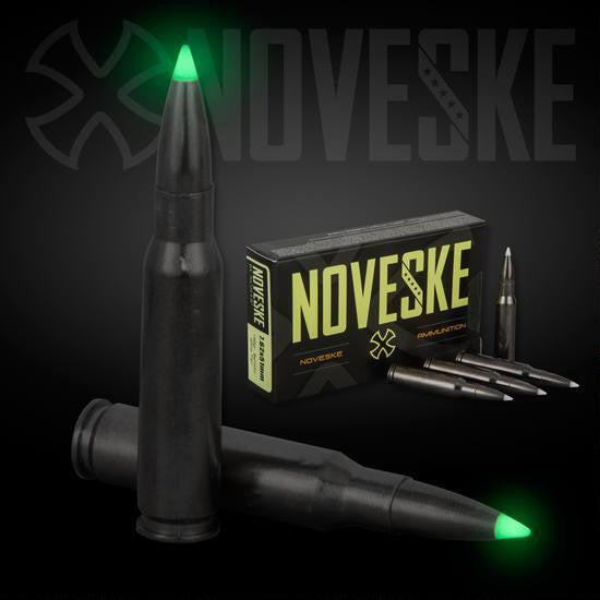 "NOVESKE BY NOSLER 7.62X51 168 GR BALLISTIC ""GLOW TIP""-High Falls Outfitters"