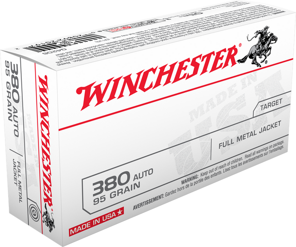 WINCHESTER  380 AUTO  95 GR  FMJ   50 RDS