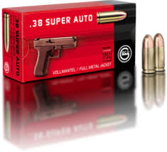50 rds. GECO .38 Super Auto 124 Grain FMJ Ammo-High Falls Outfitters