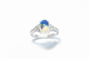 """I love you to the moon and back!"" A story of a moonstone engagement ring"