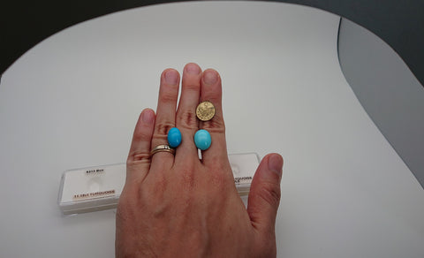 Comparison on hand for Turquoise