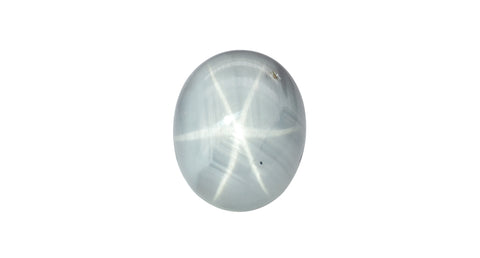 Light Blue Star Sapphire, Unheated, Burma, 15.32ct - Far East Gems & Jewellery