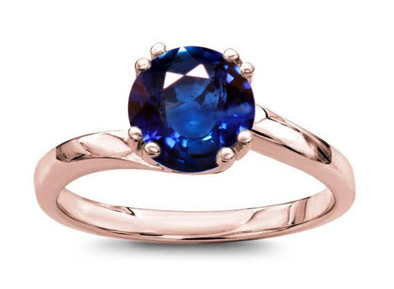 1.20ct round sapphire idea in 18k rose gold