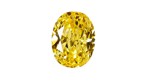 0.58ct Fancy Vivid Yellow Diamond - Far East Gems & Jewellery