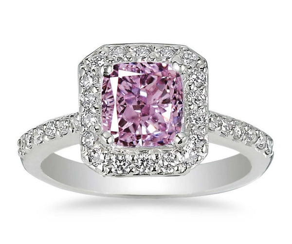 Pink Diamond - Fancy Purple Pink VS1 Diamond 0.33ct - Far East Gems & Jewellery