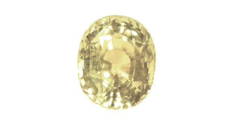 3.76ct Light Yellow Sapphire (No Heat) - Far East Gems & Jewellery