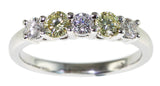 0.30ct Yellow Diamond Ring with 0.24ct Diamond - Far East Gems & Jewellery