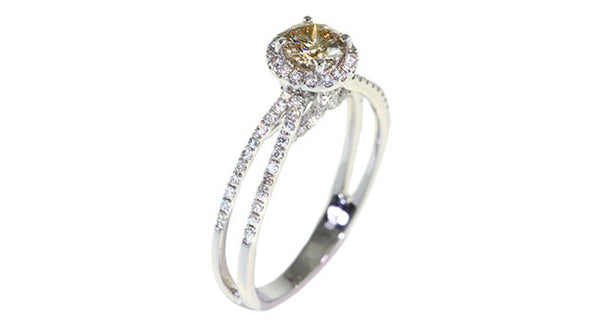 Champagne Diamond Ring - Far East Gems & Jewellery